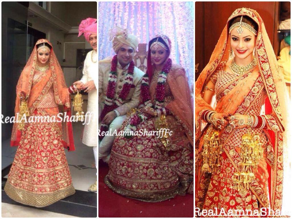 Aamna Shariff Wedding Wardrobe – That Chamkeela StitchAamna Sharif Real Life Marriage Photos