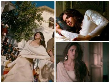 Deepika also wore white lehengas a couple of times in the movie.