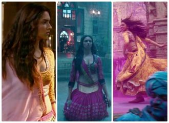 The pink and yellow colour combination never fails. Really liking the work on the pink lehenga. And my god is that a yellow floral lehenga in the holi scene? LOVE!