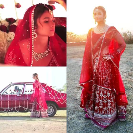 Alia Bhatt Coke Ad Bridal Red Lehenga