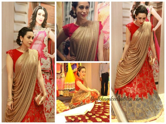 Karisma-kapoor-red-saree