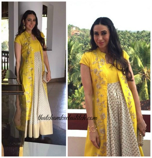 Karisma-Kapoor-Yellow-Anarkali